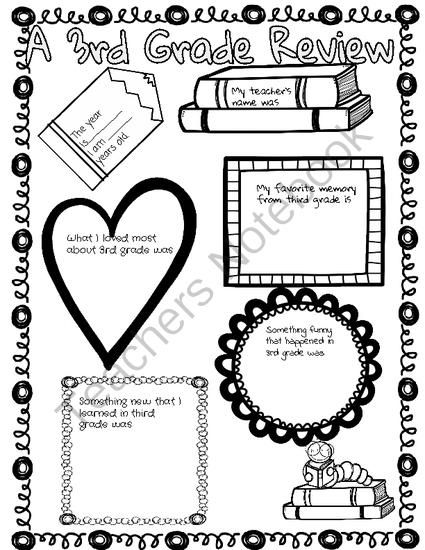 End of the School Year Poster- 3rd Grade in Reivew from