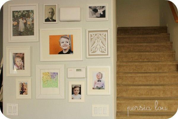 hiding thermostat control | Hallway decorating, Gallery ...