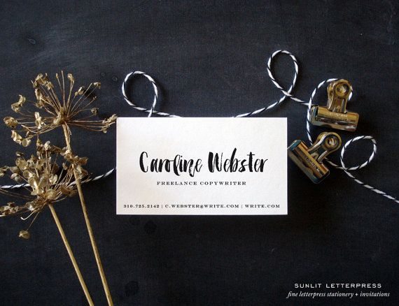 Custom business cards brush script card custom calligraphy business custom brush script letterpress business cards 100 pre designed cards brush print reheart Image collections