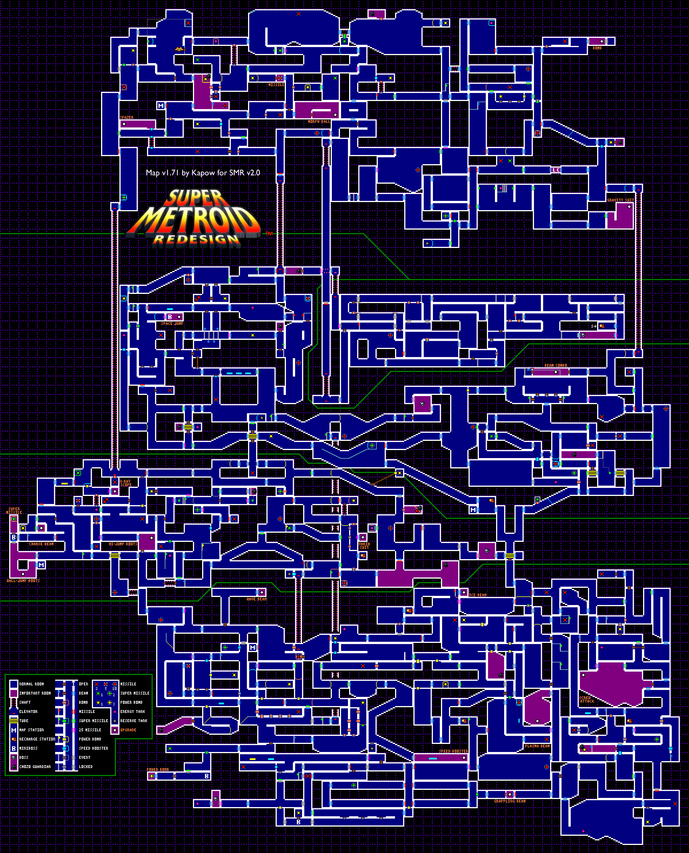 Metroid Fusion Map : metroid, fusion, Super, Metroid, Map-I, Spent, Hours, Scouring, These, Hidden, Items., X-ray, Vision, Anything, Metroid,, Snes,