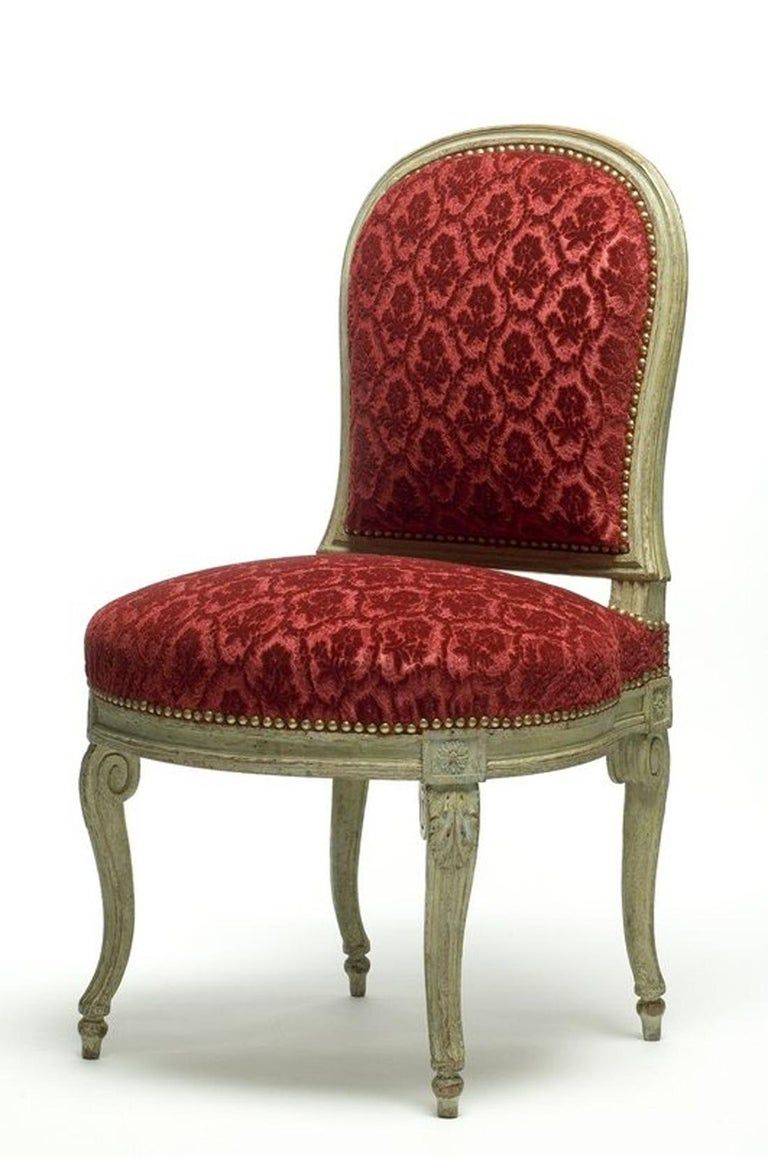 Charming Children S Gilded Wood Armchair After G Jacob In 2020 Wood Arm Chair White Leather Armchair Armchair