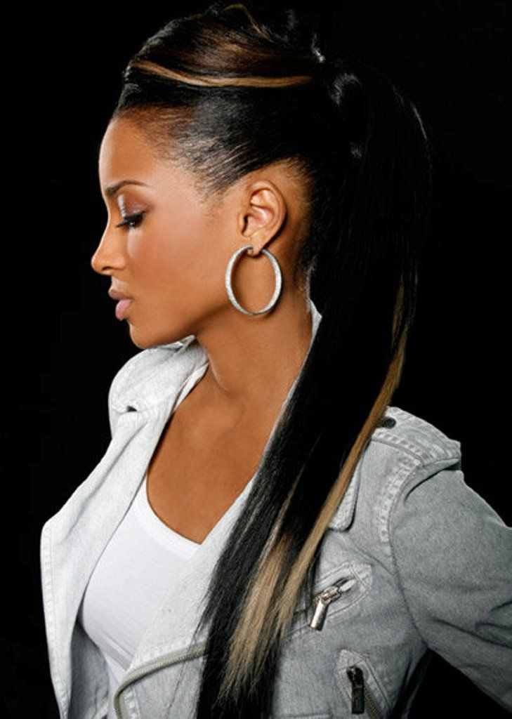 Pin by slaolina mandolina on ciara pinterest highlighted black hair with blonde highlights for ponytail hairstyles pretty designs pmusecretfo Gallery