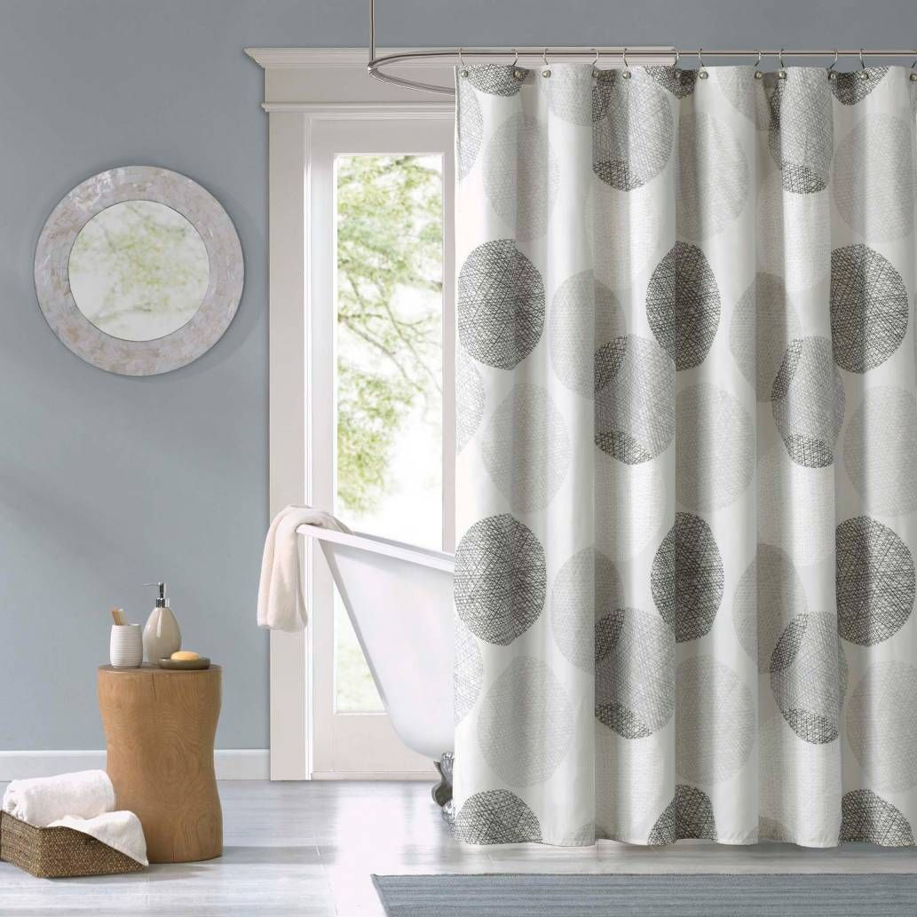 Madison Park Essentials Knowles Shower Curtain Fabric Shower