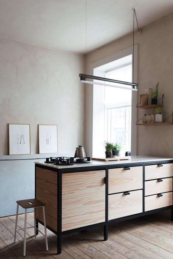 Estructura negra en muebles, la locura en la decoración de interiores 2019