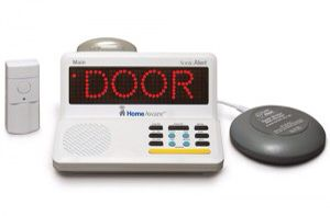 """The HomeAware HA360 Master Signaling Package is the exciting new system from Sonic Alert. Each time a transmitter sends a signal, text will scroll in bright letters on the display-such as """"DOOR"""", """"PHONE"""", etc. In addition, you can be alerted by 110dB alarm, powerful bed shaker and bright strobe. With virtually unlimited range, the HomeAware's 1,000 foot range can be extended another 1,000 feet by using HomeAware's Deluxe Receiver or Basic Receiver. HomeAware is also compatible with…"""