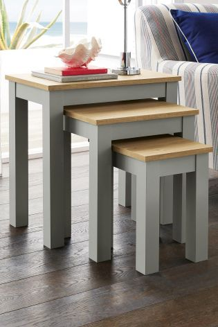 Buy Set Of 3 Grey Stanton Nest Of Tables from the Next UK online