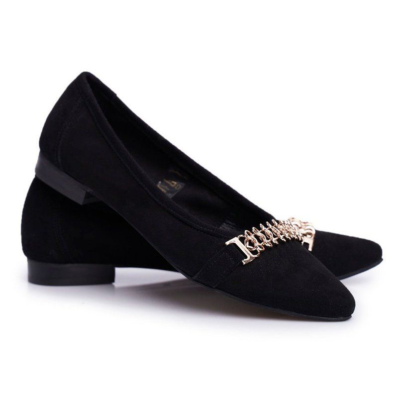 Baleriny Damskie Czarne Skorzane Zamszowe Nicole 2466 Beferr In 2020 Loafers Shoes Fashion