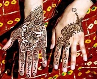 Cara Henna Tangan Cara Melukis Henna Sendiri Motif Henna Tangan