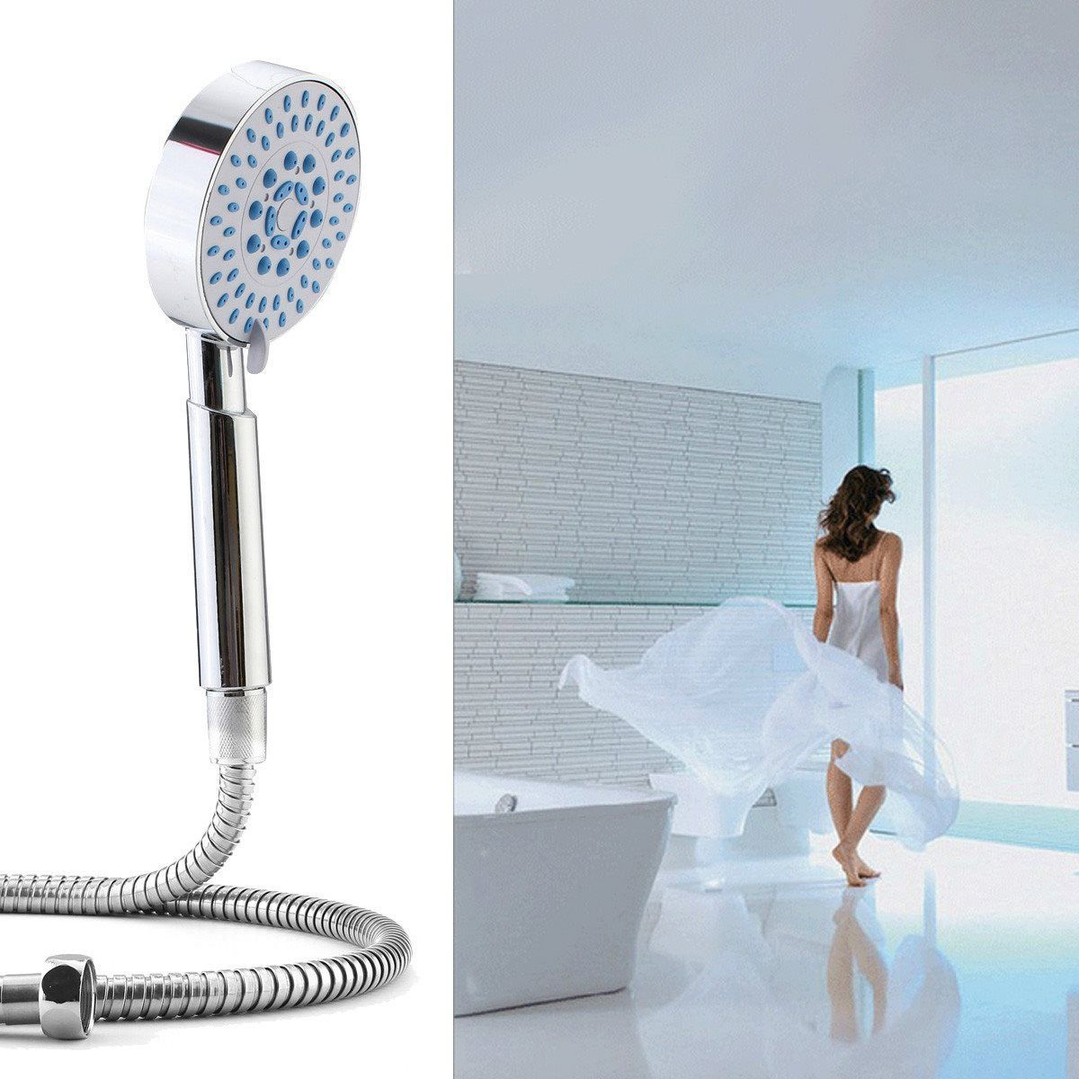 Hot Sale Universal 5 Mode Multi Functions Chrome Bath Plated Hand ...