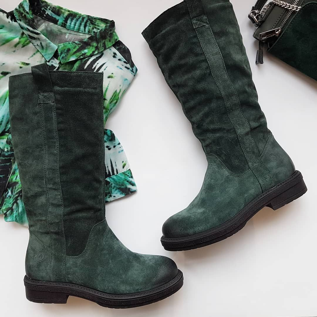 Sale Kozaki Nessi Nessi Nessishoes Greenshoes Fashion Leather Handbag Leatherbag Leavesfall Comfortable Winteroutfit Wint Green Shoes Shoes Boots