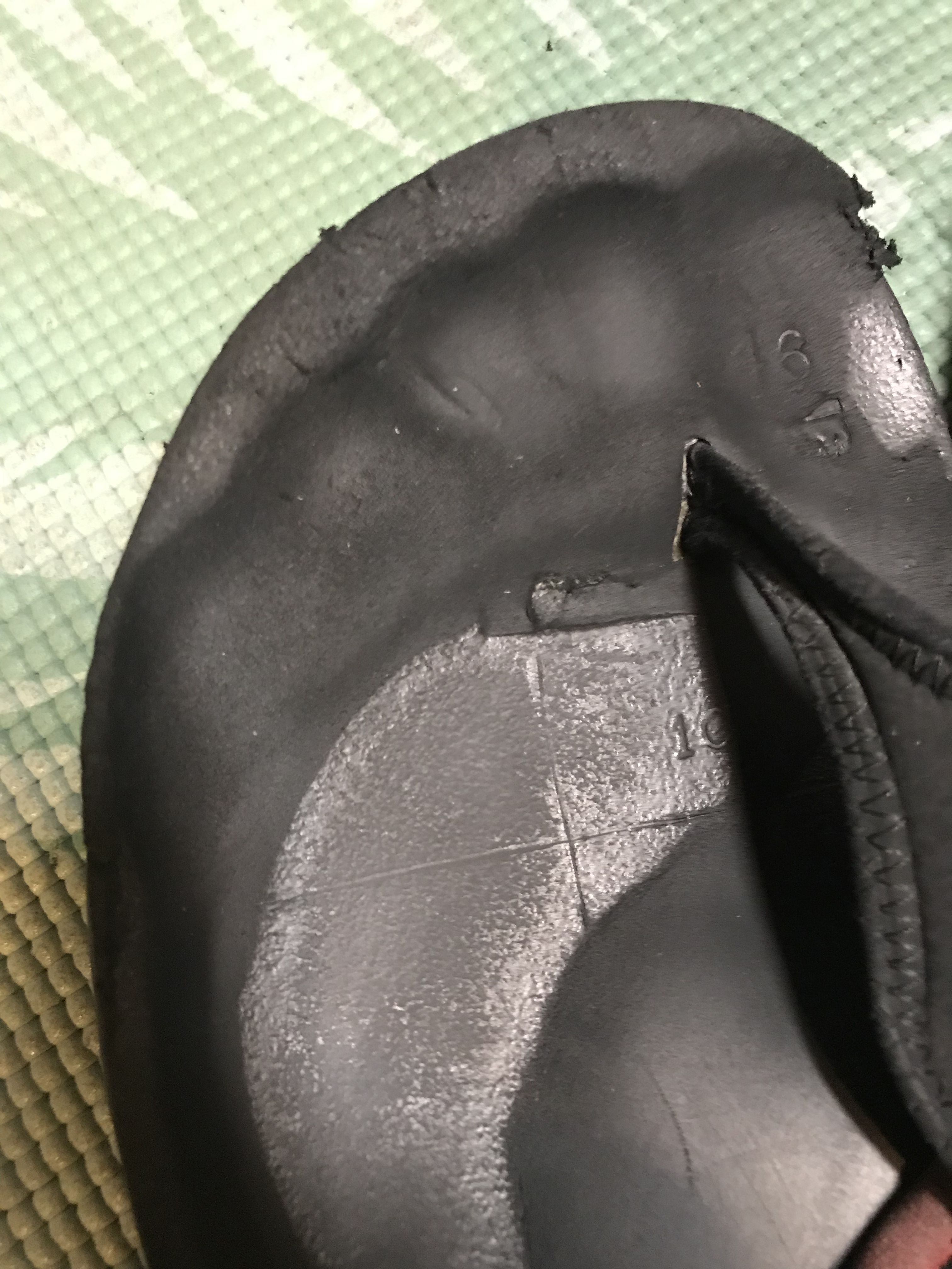 My Ugly worn out Nike flip flop  5cb2084c8