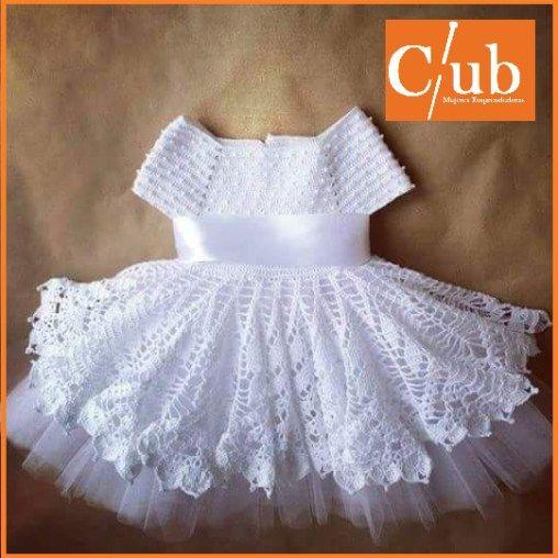 Vestido Niña a Crochet | wedding | Pinterest | Vestido infantil ...