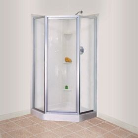Awesome One Piece Corner Shower Stalls Mustee U0026 Sons Durawall Shower