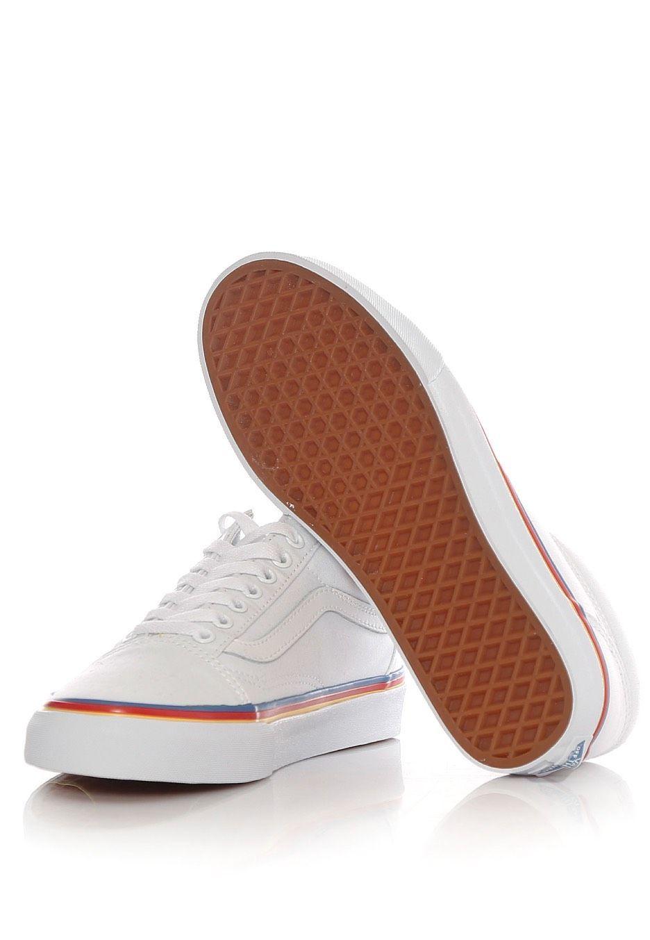 4ad64e29e242b4 Vans - Old Skool Rainbow Foxing True White - Girl Schuhe im Impericon Shop  - Innerhalb von 24 Stunden versandfertig - 30 Tage Rückgaberecht