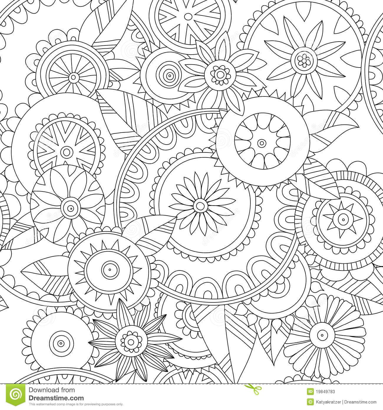 flower pattern coloring pages - photo#18
