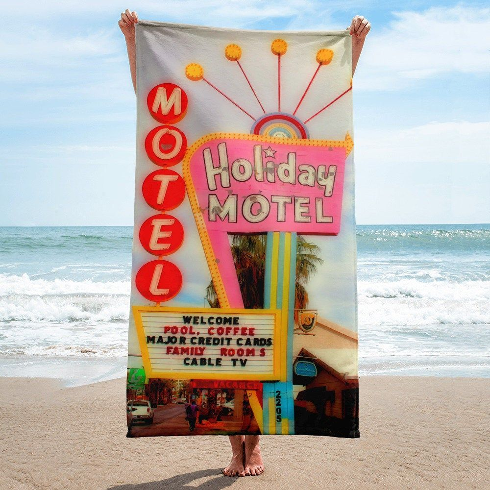 Vintage Downtown Las Vegas Motel Towel