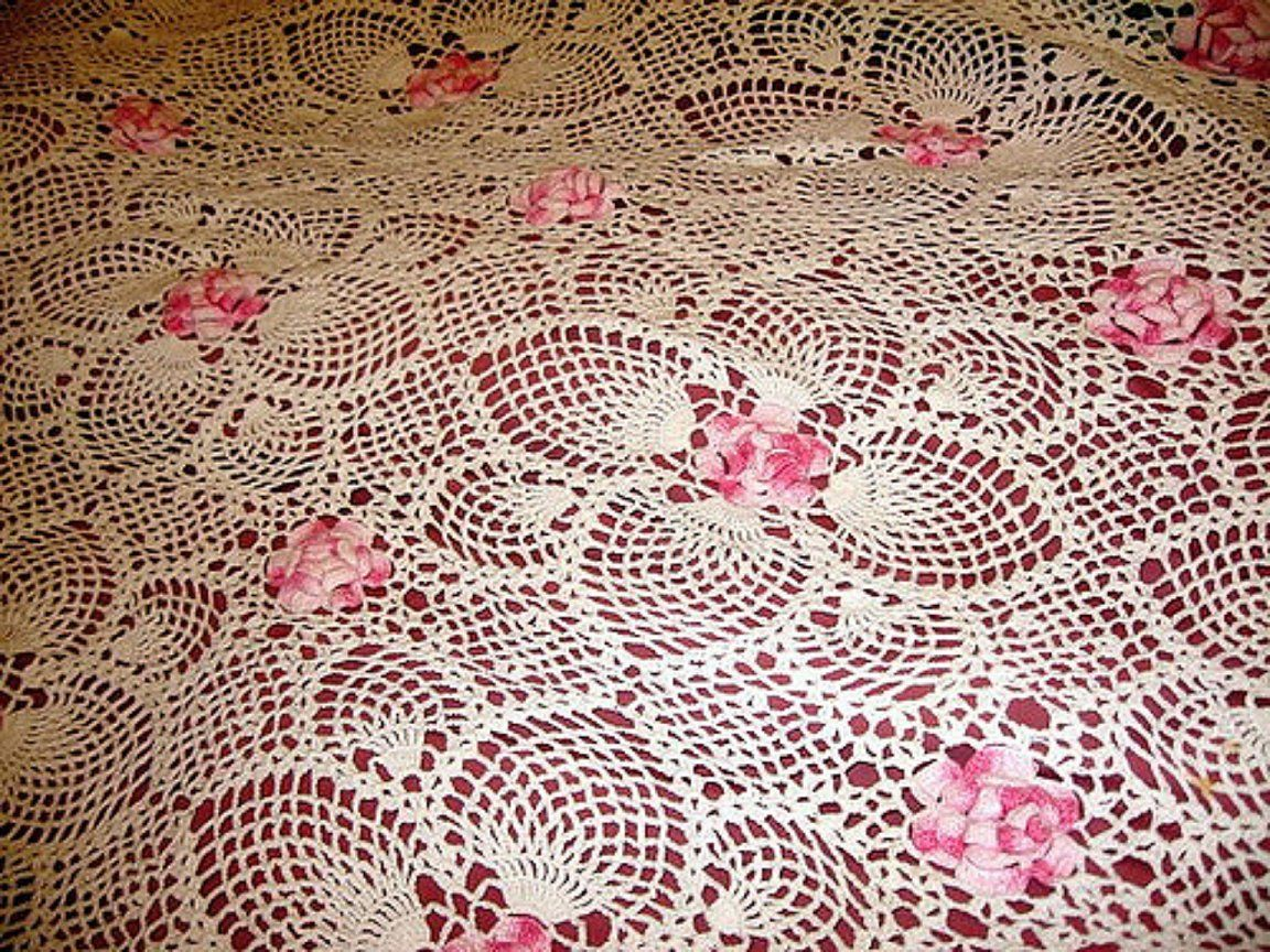 Pineapple and Posies Lacy Afghan | Pinterest | Afghans, Crocheted ...