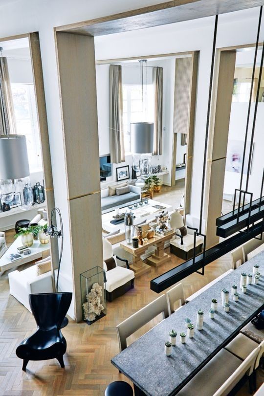 Modern interior design homes designer kelly hoppen shares with us her amazing house signature style also tour    london home of epic proportions rh pinterest