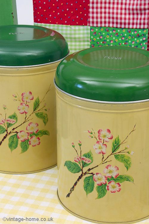 Vintage Home Shop Vintage Pink Blossom Flour Tins Www Vintage