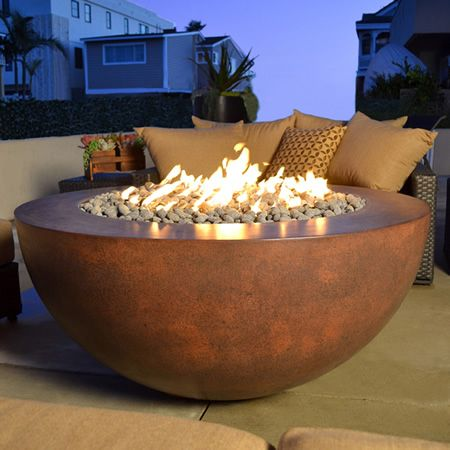 "42"" Sumaco Manual Ignition Fire Pit - Concrete 