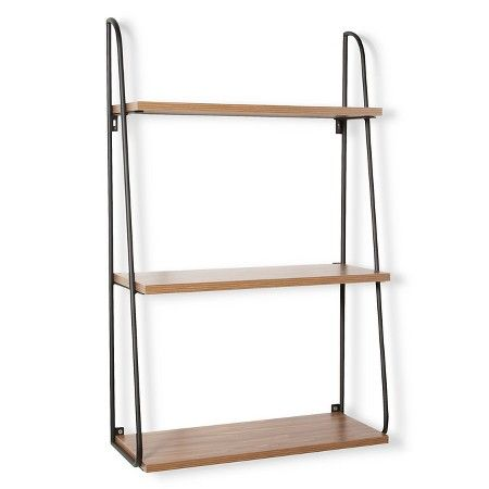 Threshold 3 Tier Wood Wall Shelf Target Metal Wall Shelves