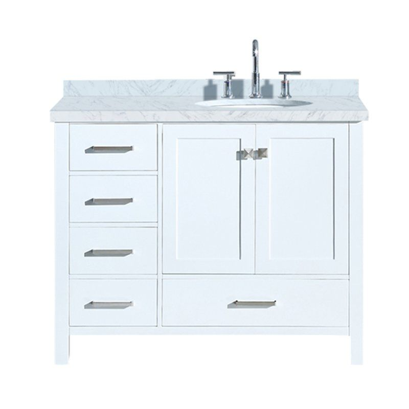 Utley 43 Single Bathroom Vanity Set Marble Vanity Tops Single