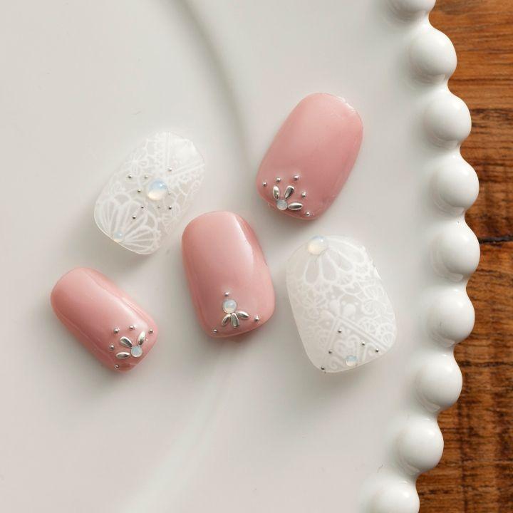 短い爪 だからかわいい ブライダル ネイル 見本帳 ブライダルネイル ネイル 結婚式用のネイルデザイン