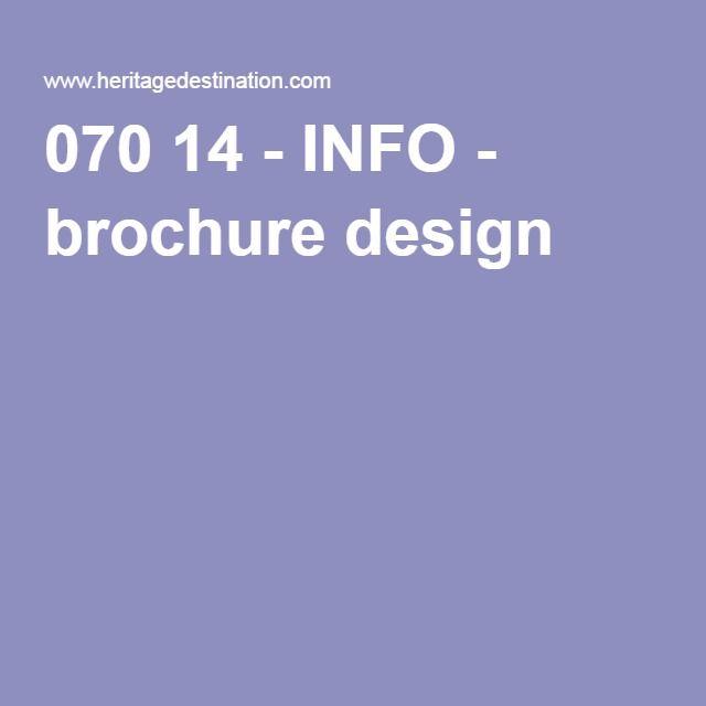070 14 - INFO - brochure design tourist experience Pinterest