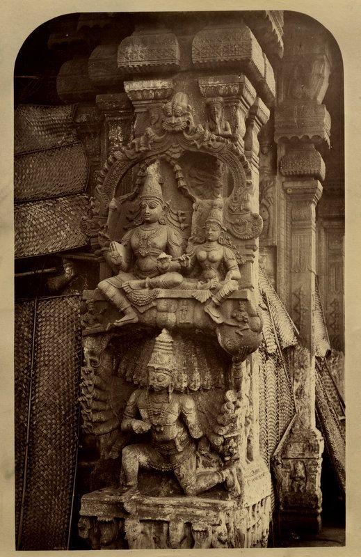 Sculptures+of+Rama,+Sita+and+Ravana+in+a+Temple+-+Madura ...