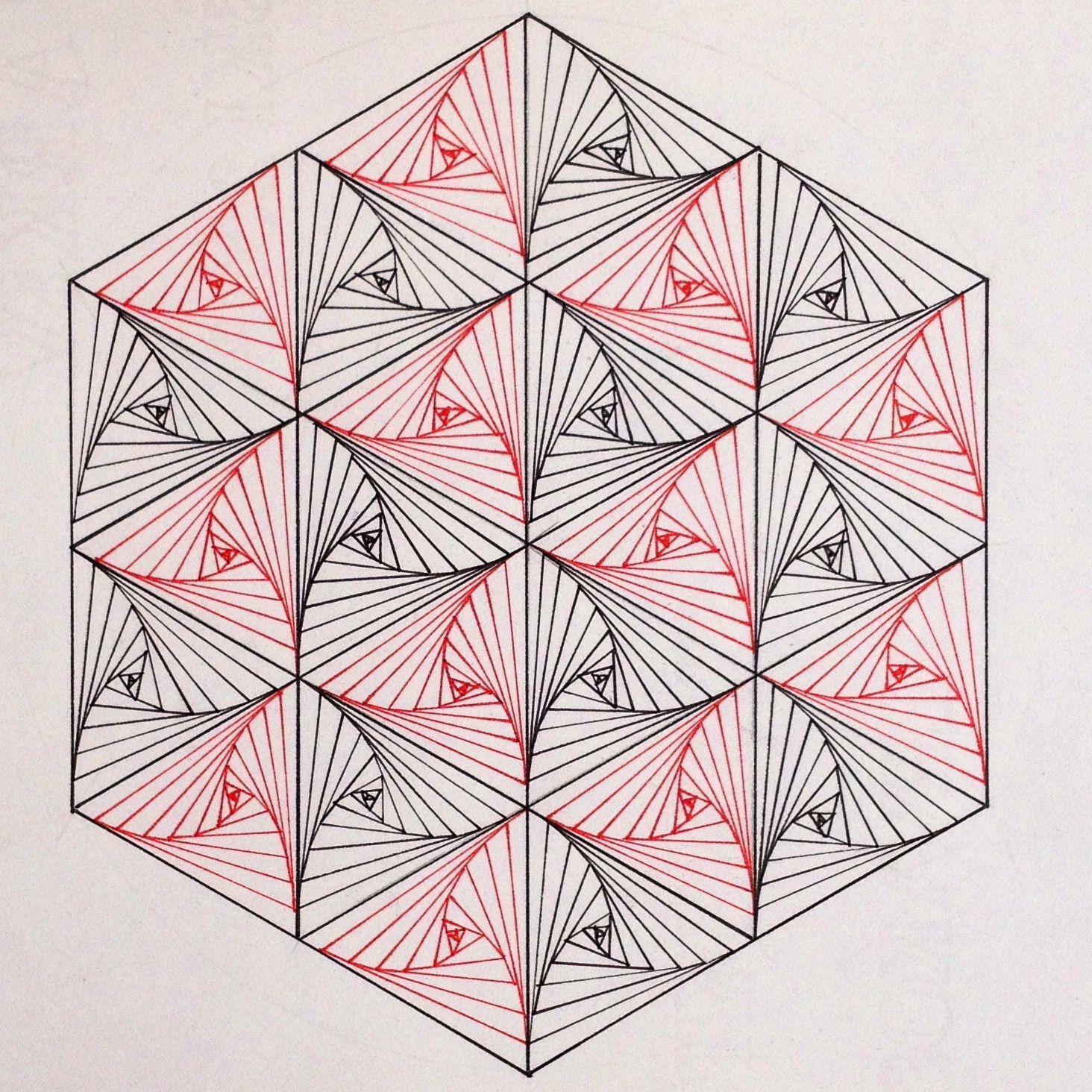 Square Geometry Symmetry Tiling Pattern Tessellation