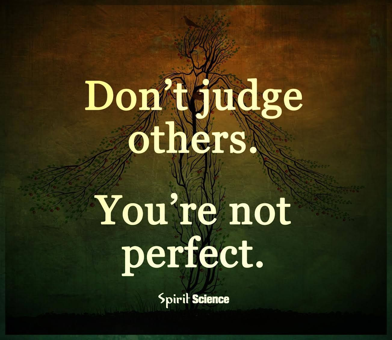 Don T Judge Others You Re Not Perfect Wisdom Quotes Spirit Science Judging Others