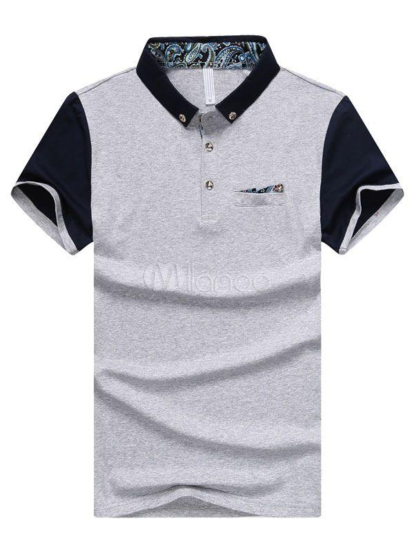 73da98e214f Camisa Polo blanca camisa de Polo de algodón Chic para hombres