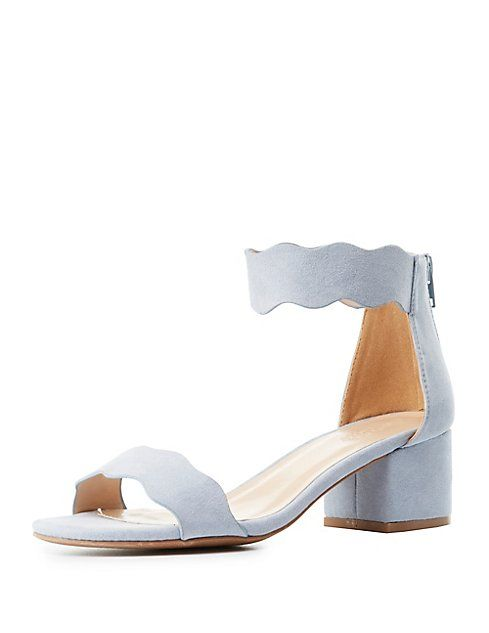 69006025bf0 Qupid Scalloped Two-Piece Sandals   I ♥ SHOES!!!!! ☺️   Charlotte ...