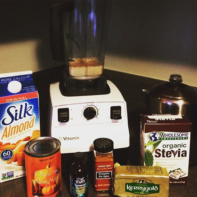 Pumpkin Spiced Coffee....Healthy and big time YUMMY.  Pumpkin is a very high-fiber, low-calorie food that has lots of carotenoids that may keep cancer cells at bay and can also help keep the skin wrinkle-free! This drink is also sweet and pretty filling so you won't be craving any morning sweets. ENJOY.