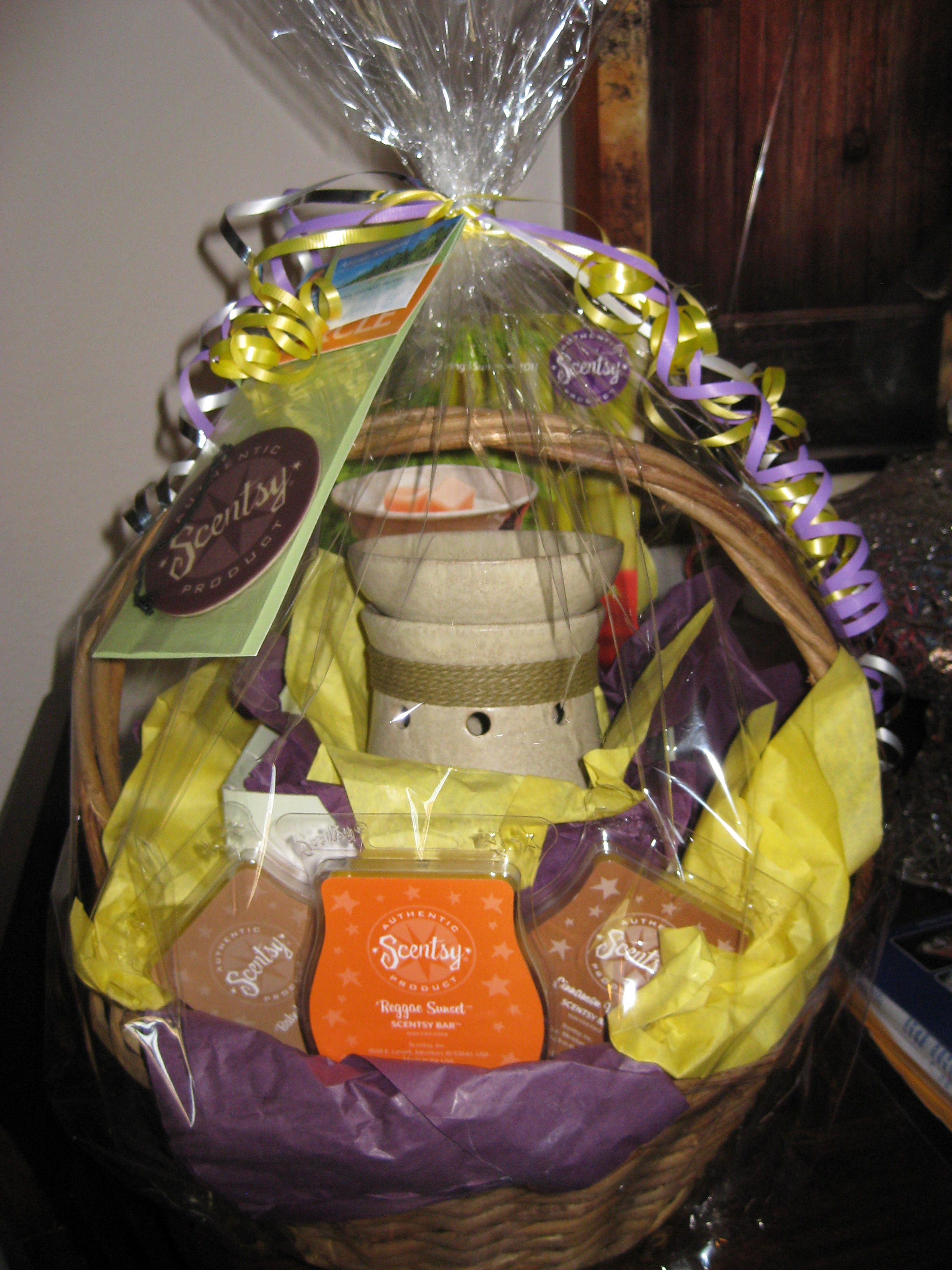Raffle Basket! I personally would include only one bar and one ...