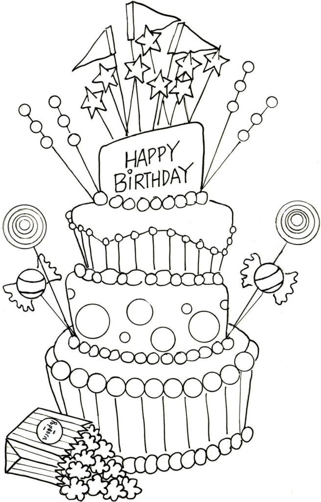 Happy Birthday Coloring Pages Happy Birthday Coloring Pages Birthday Coloring Pages Happy Birthday Drawings