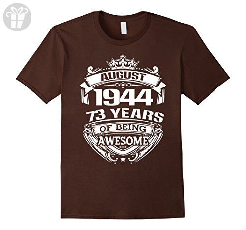 Mens August 1944 - 73th Birthday Gifts Funny Shirt XL Brown - Birthday shirts (*Amazon Partner-Link)