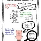 This poster provides a visual of three steps to use when analyzing character traits in a story.    Check out the character traits list and workshee...