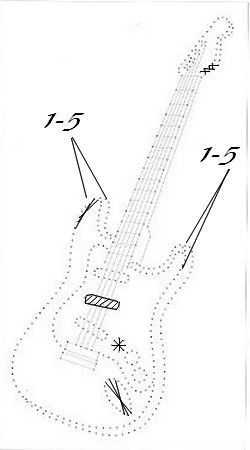 cartes brodees page 3 cartes fils tendus pinterest guitares broder et cartes. Black Bedroom Furniture Sets. Home Design Ideas