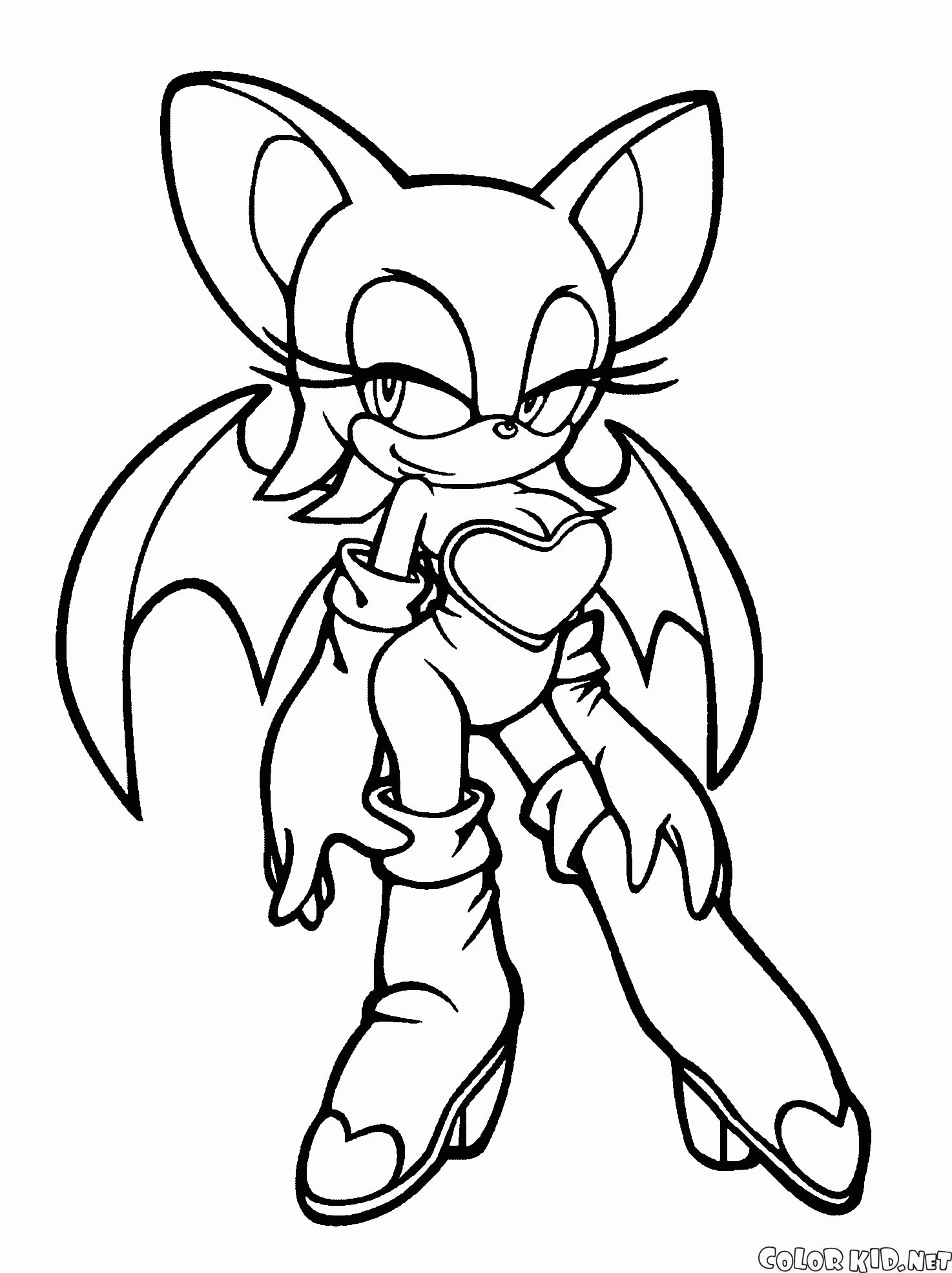 Sonic Rouge Coloring Pages Download Bat Coloring Pages Cartoon Coloring Pages Coloring Pages For Girls