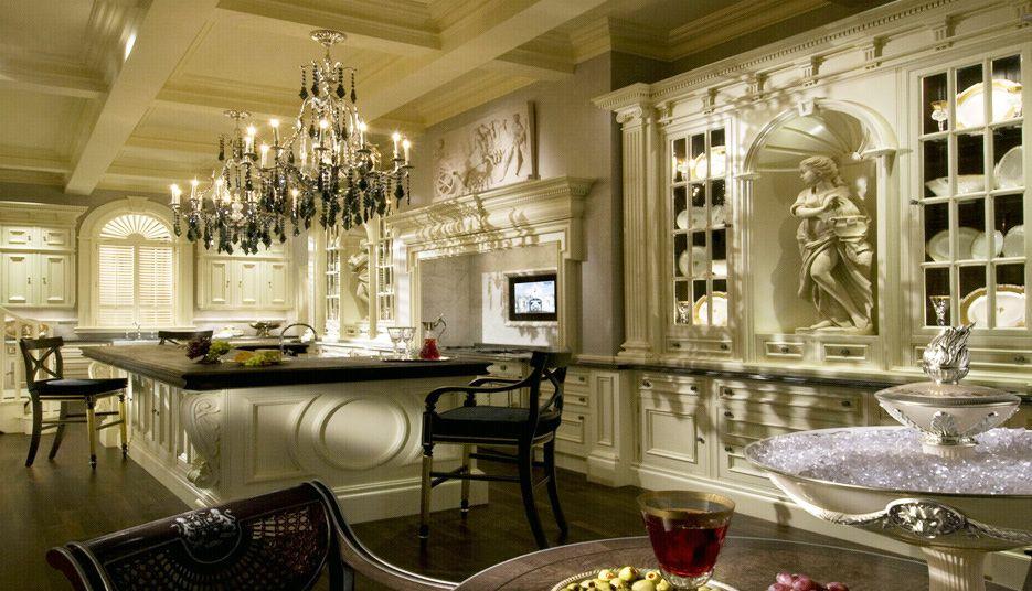 a luxury dark walnut colored kitchen. exquisite kitchen cabinets ...