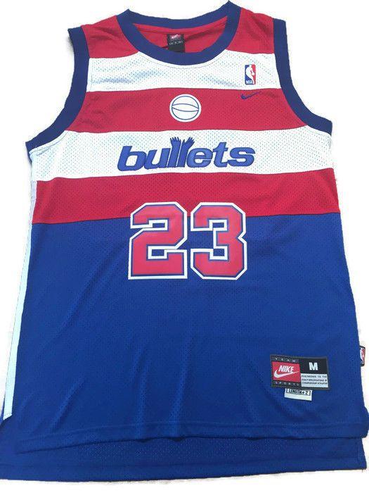 designer fashion a83a0 5ae09 Nike NBA Washington Wizards Bullets Michael Jordan Throwback ...