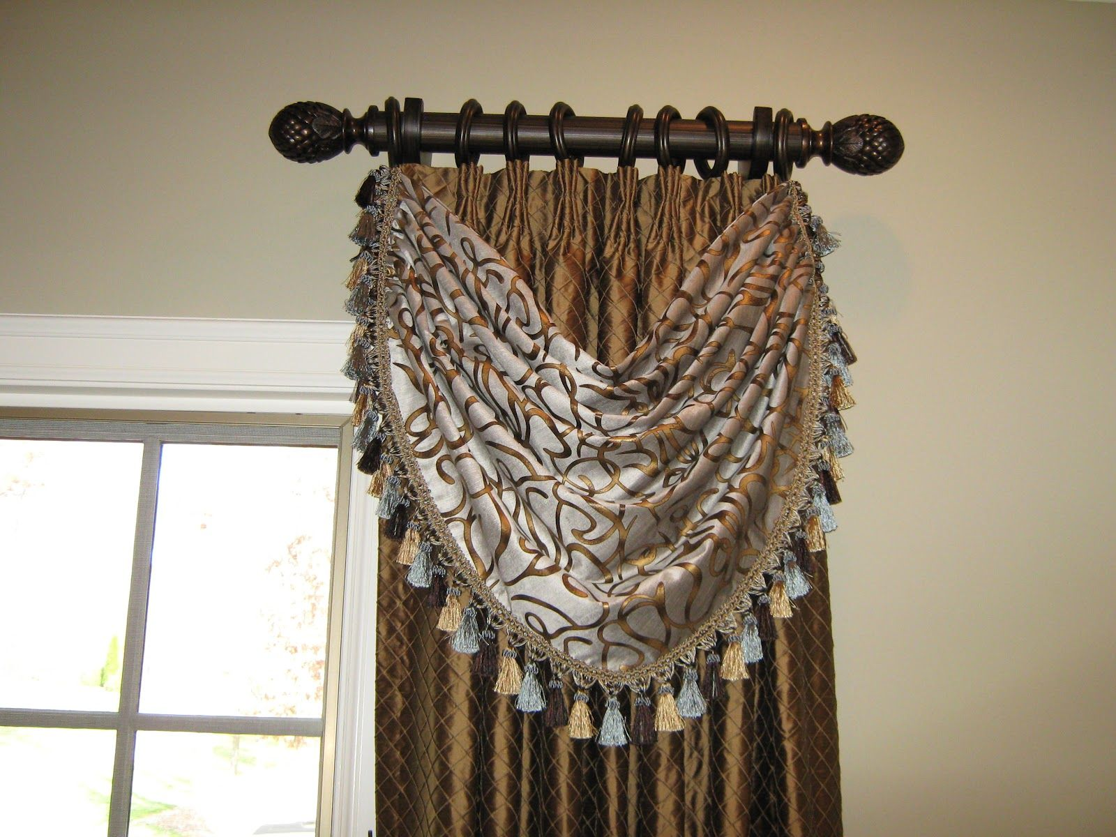 Images Of Curtains With Short Rods Tudor Swag 9287 With Short