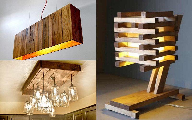 6 Tipos de Lámparas hechas de pallets y madera que puedes empezar a