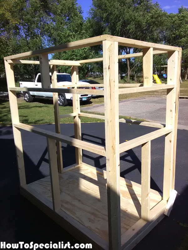Diy 4x6 Shooting Stand Howtospecialist How To Build Step By Step Diy Plans Shooting House Deer Hunting Stands Deer Blind Plans