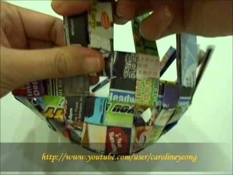 【CYS】纸编~废纸DIY置物篮の一:收边 - YouTube