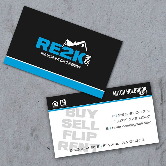 Real Estate Business Cards мастер