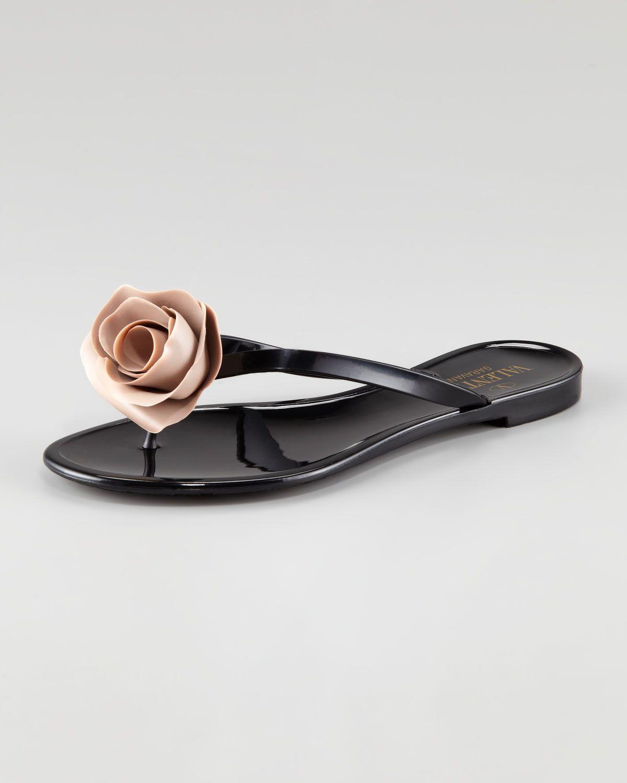 6b46c1fa0a2a Valentino Rose Flip-Flop  295.00