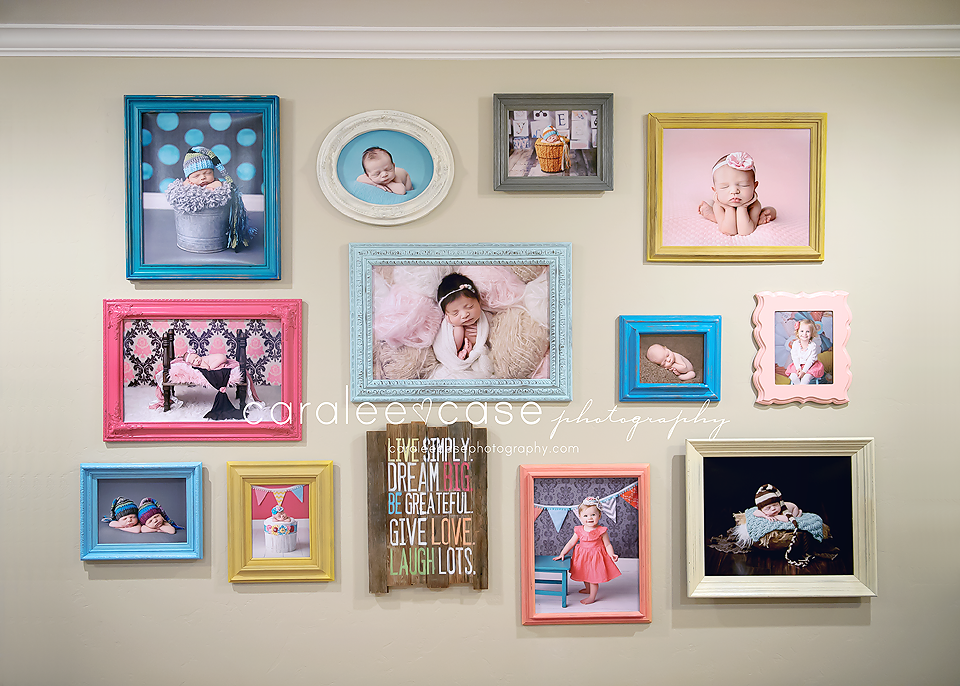 Caralee Case Photography Studio Wall Display Vintage Frames Wall
