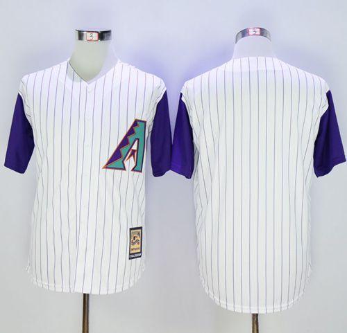 9f613f499 Diamondbacks Blank White Hall Of Fame Cool Base Stitched MLB Jersey ...